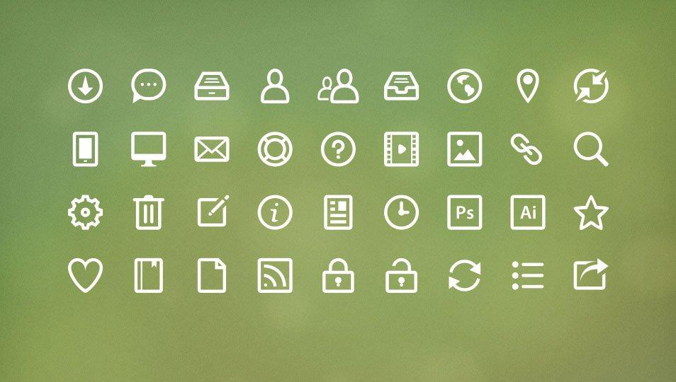 Eco Ico - Line Icon Set