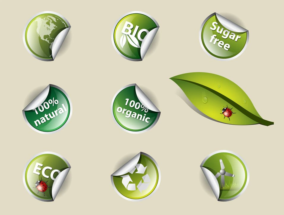 Eco and Bio Stickers