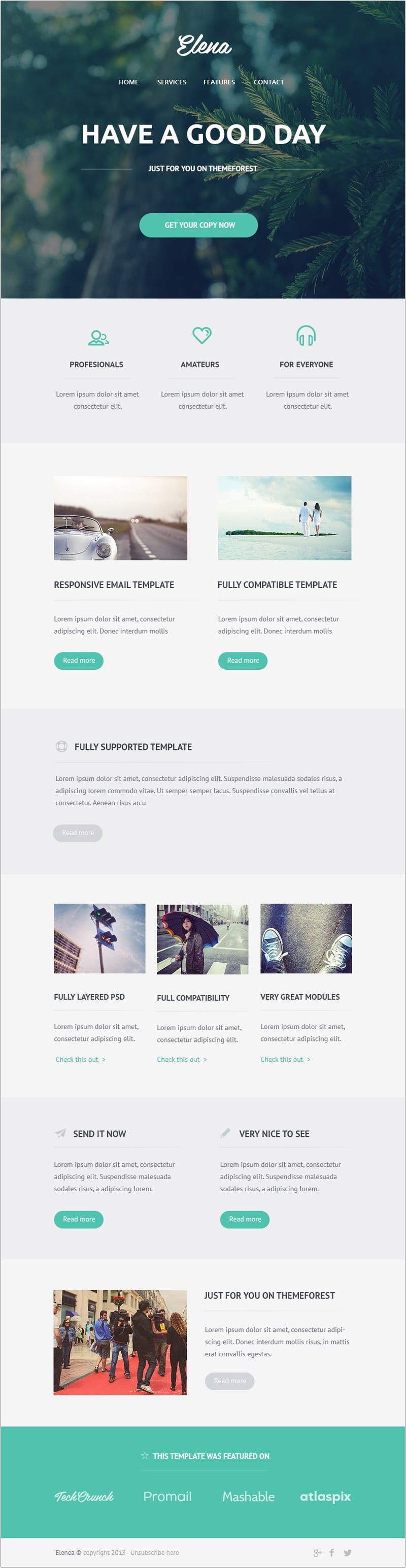 Free email newsletter templates psd css author for Designing an email template