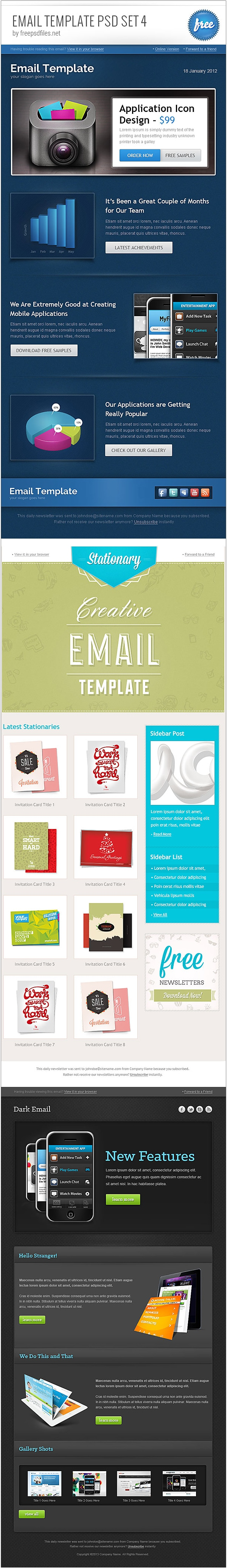 Email-Template-PSD-Set