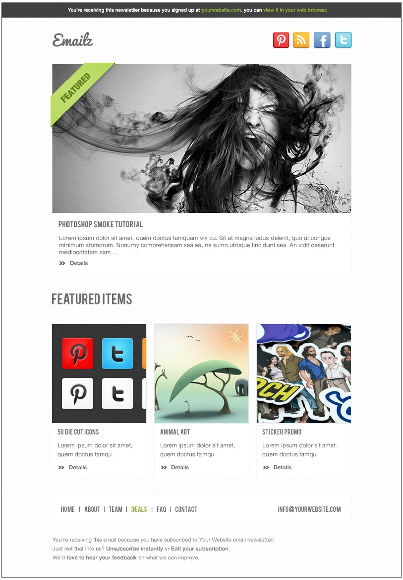 Emailz Newsletter Template