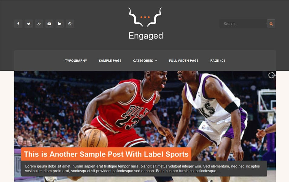 Engaged Responsive Magazine Blogger Template