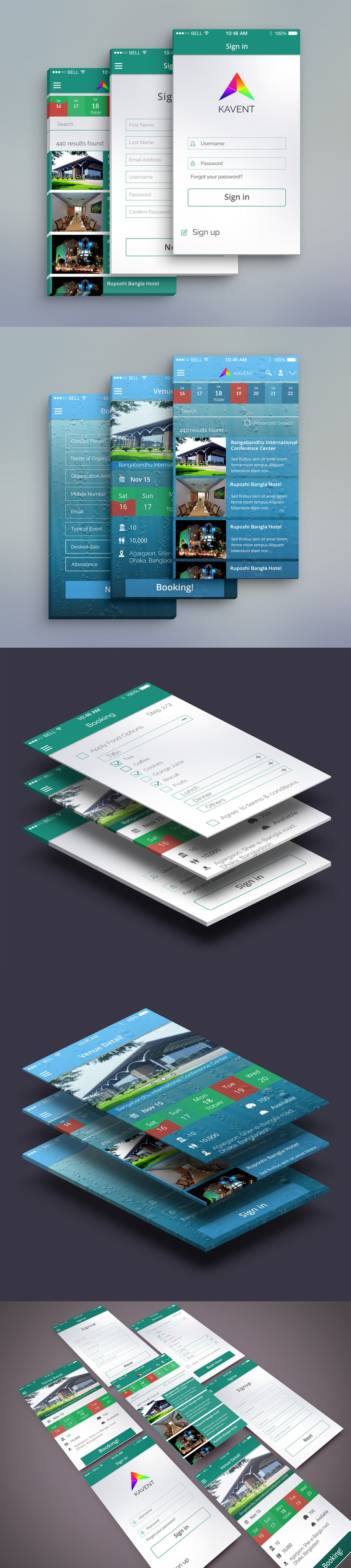 Event Mobile App UI PSD
