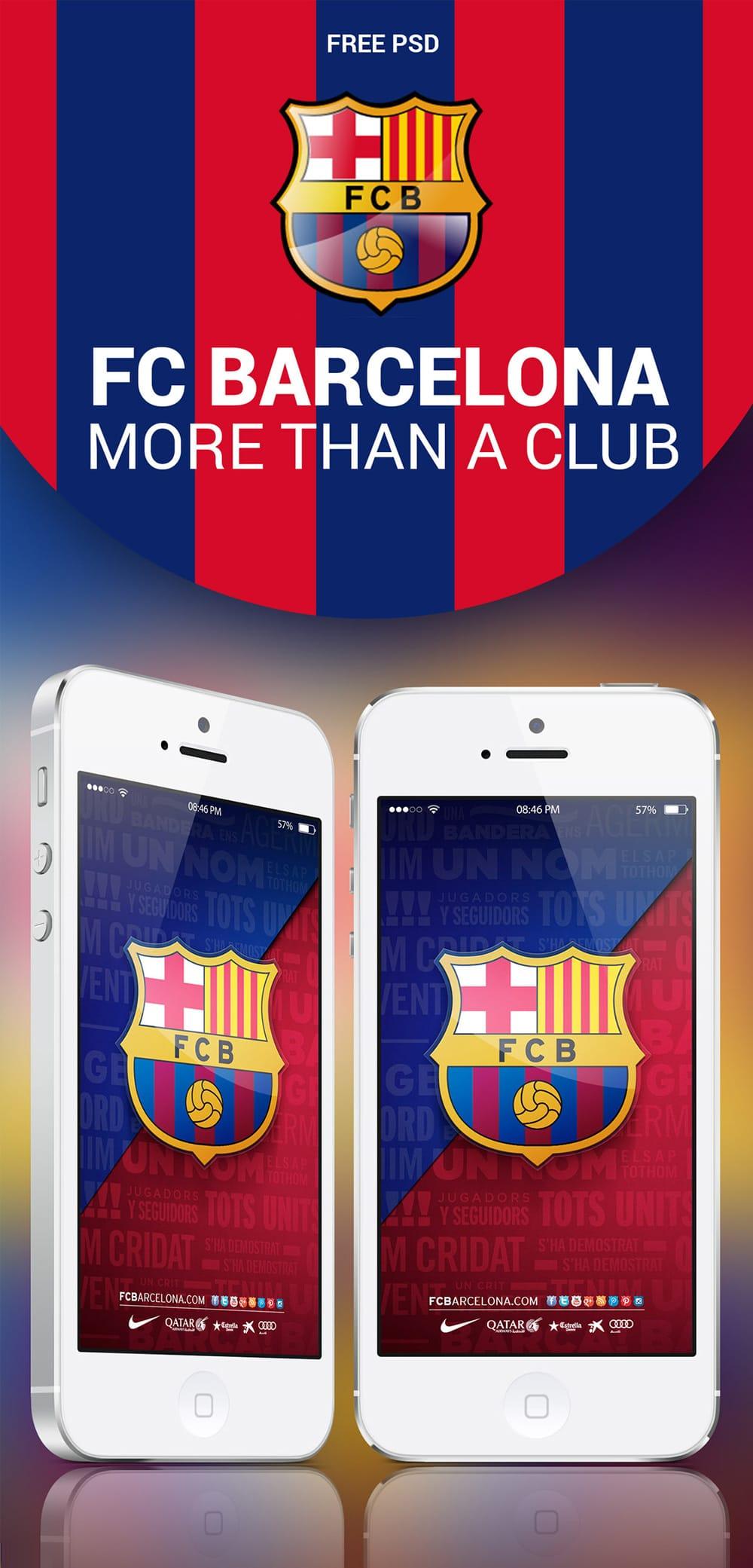 FC Barcelona Mobile App UI PS