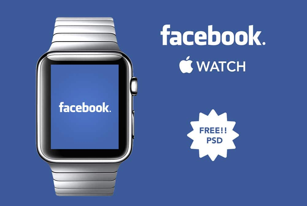 Facebook Apple Watch Free PSD