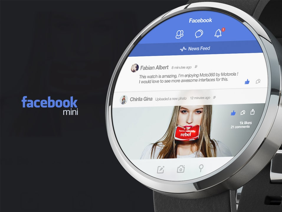 Facebook mini for Moto 360