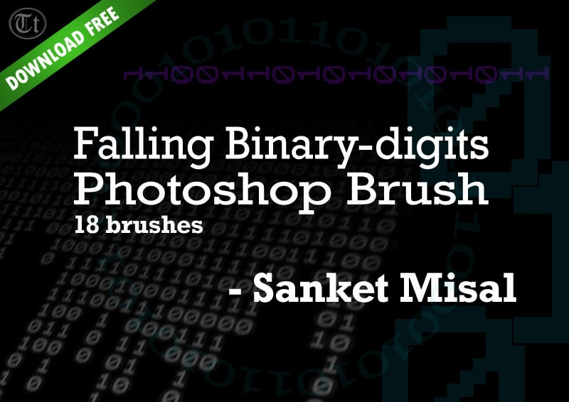 Falling Binary Photoshop Brushes