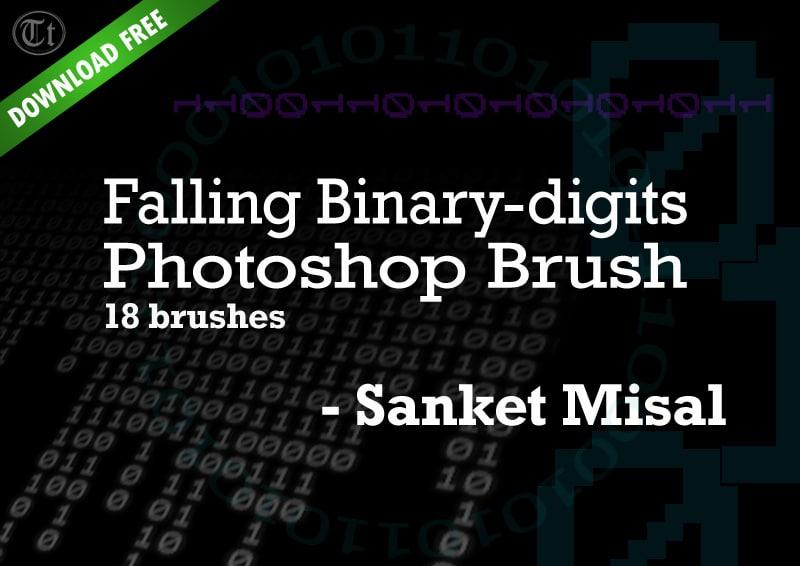 Falling Binary Photoshop Brushes