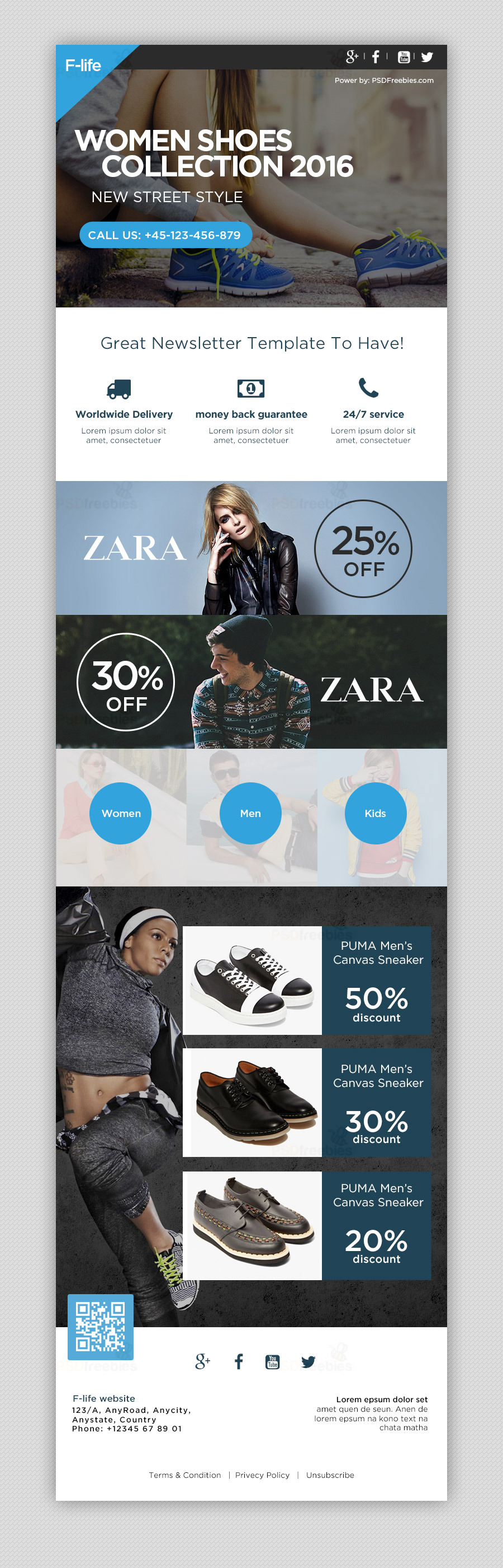 Fashion Sale Newsletter Template PSD