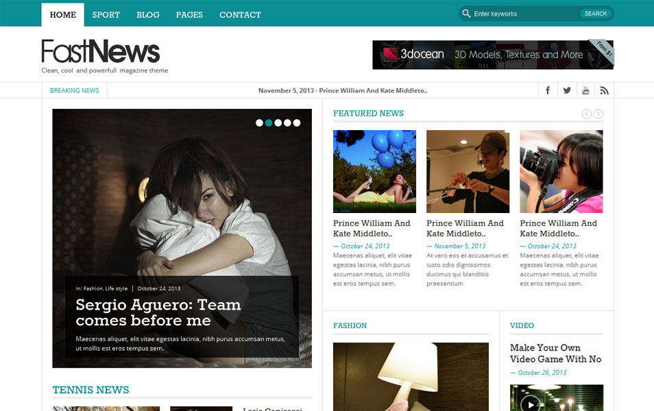 Fast News- Magazine WordPress theme