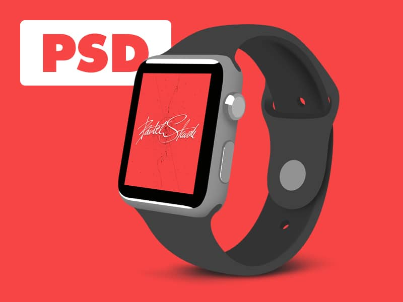 Flat Apple Watch Sport PSD
