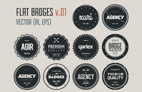 Flat Badges Vector