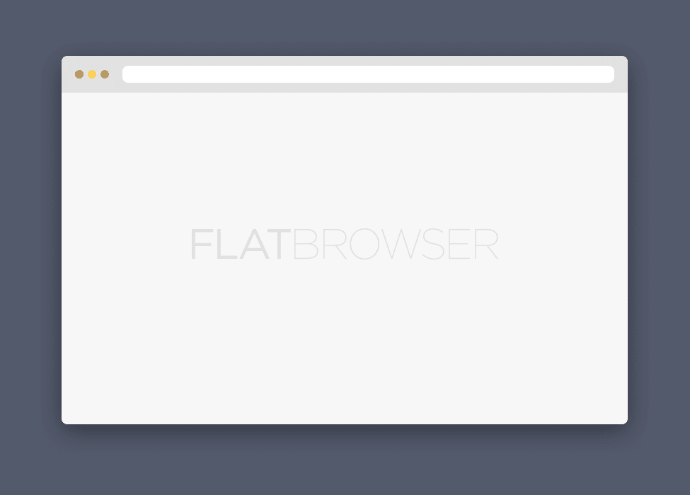 Flat Browser PSD