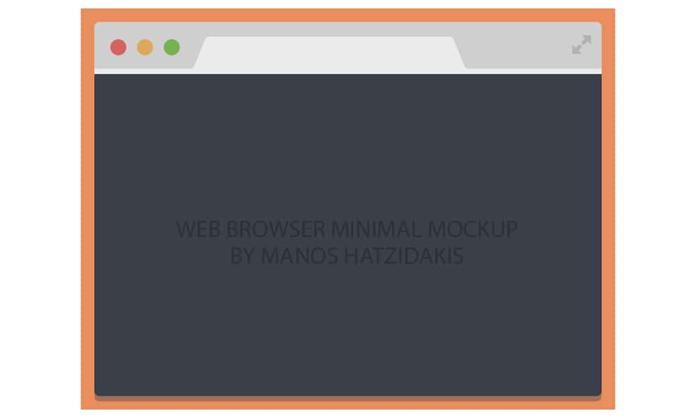 Flat Chrome Browser Free Psd