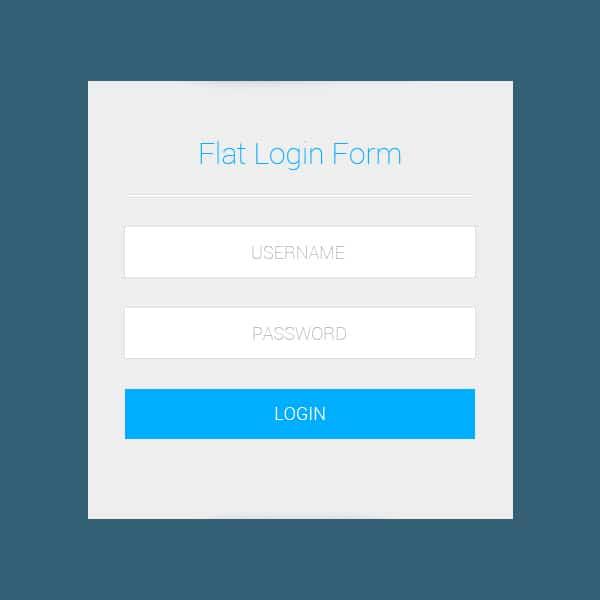 Flat-Login-Form