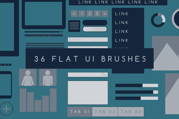 Flat UI Photoshop Brushes