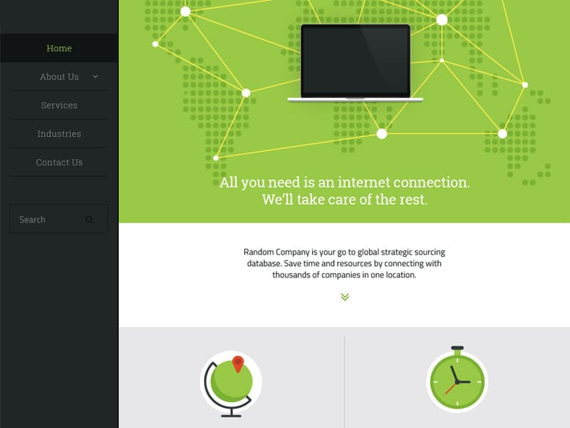 Flat Web Interface PSD
