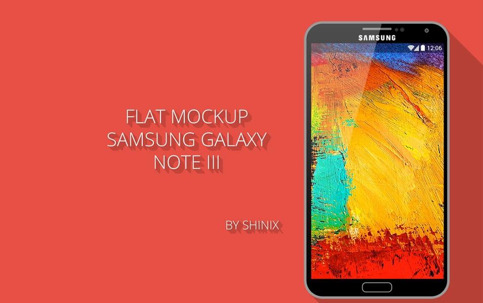 Flat mockup Samsung note III
