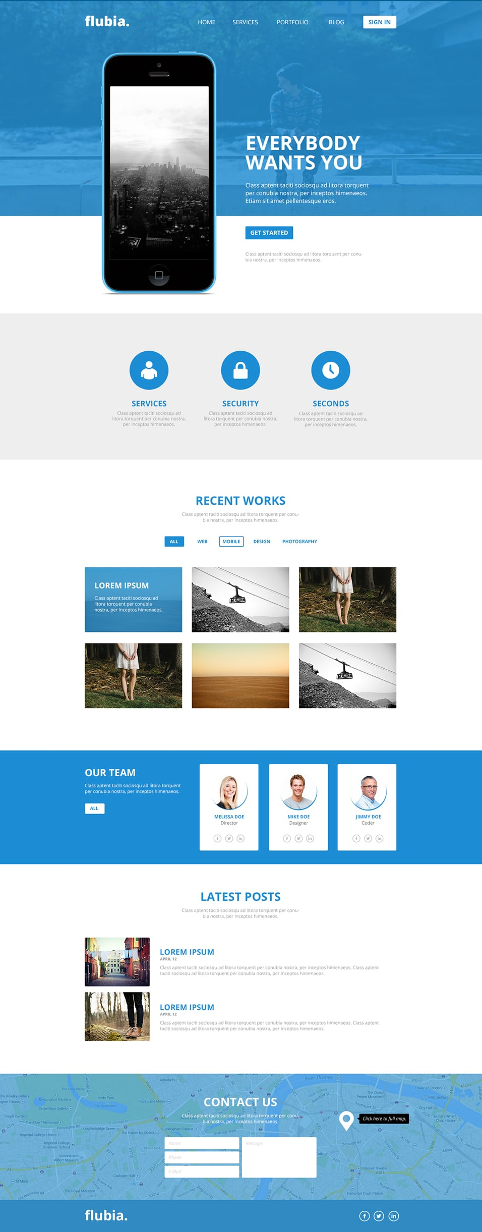 Flubia Free PSD Web Template