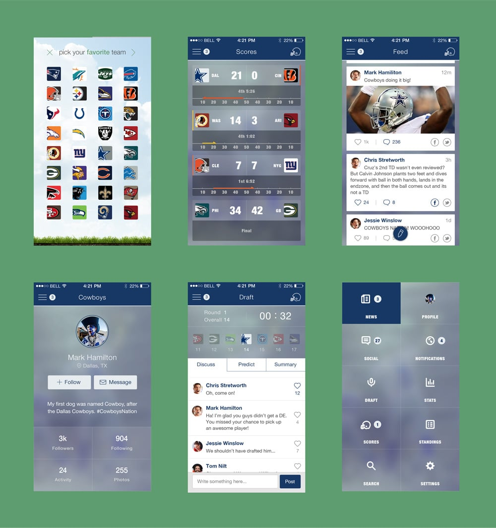 Football XO App PSD