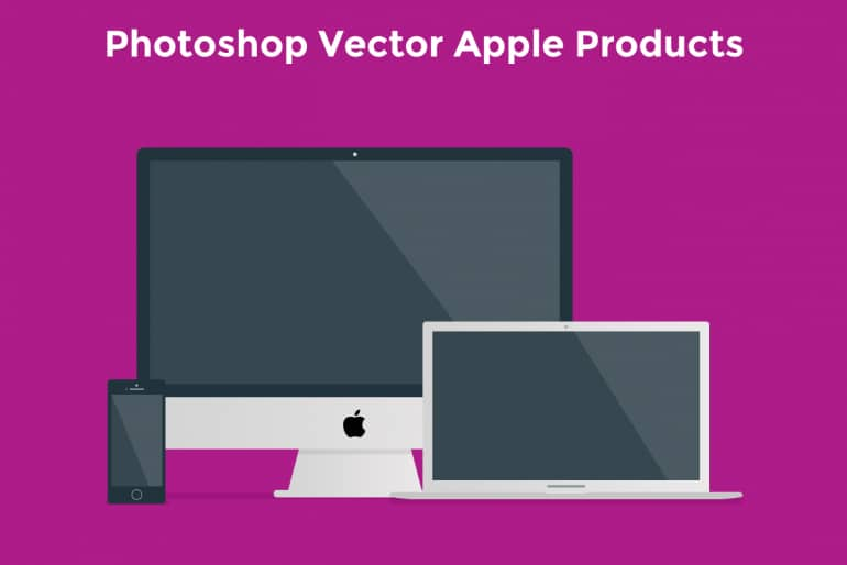 Free Apple Flat Products PSD