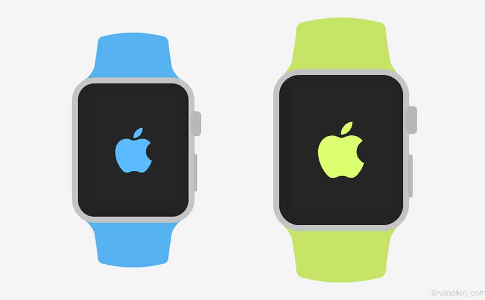 Free Apple Watch Flat Templates PSD