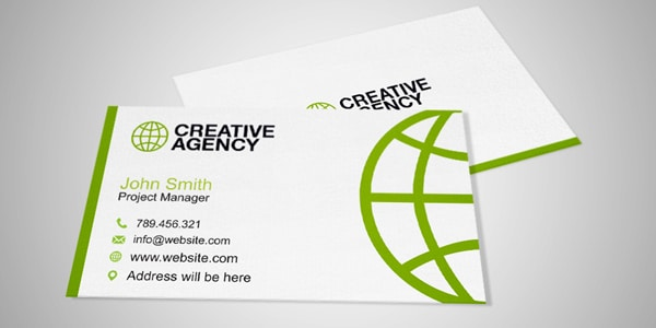Free Business Card Mock Up 7