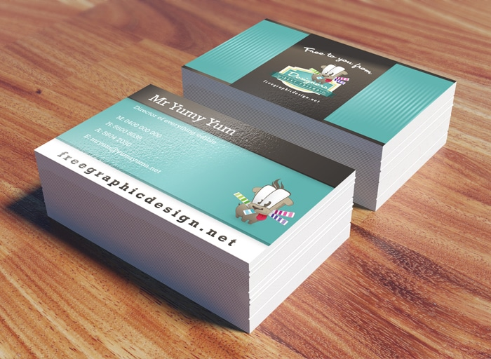 Free Business Card PSD Mock Up 3