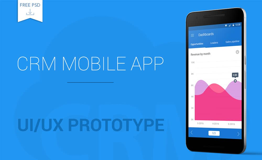 Free CRM Mobile App Template PSD