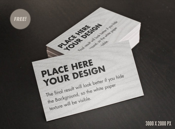 Free Card / Flyer mock Ups