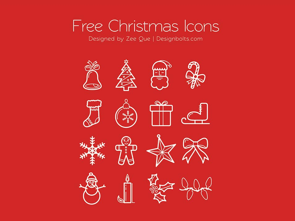 Free Christmas Icons Set