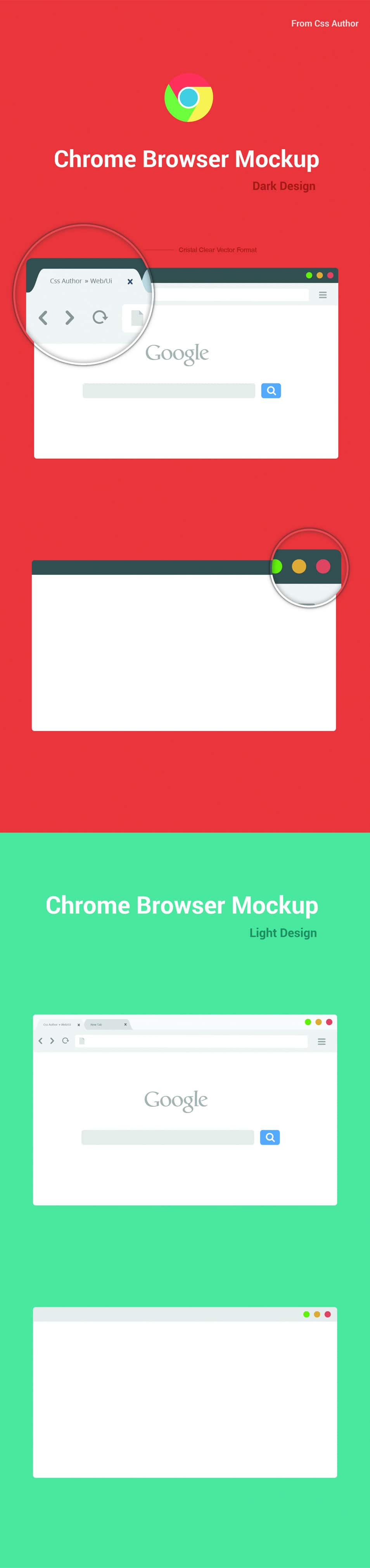 Free Chrome Browser Mockup Vector