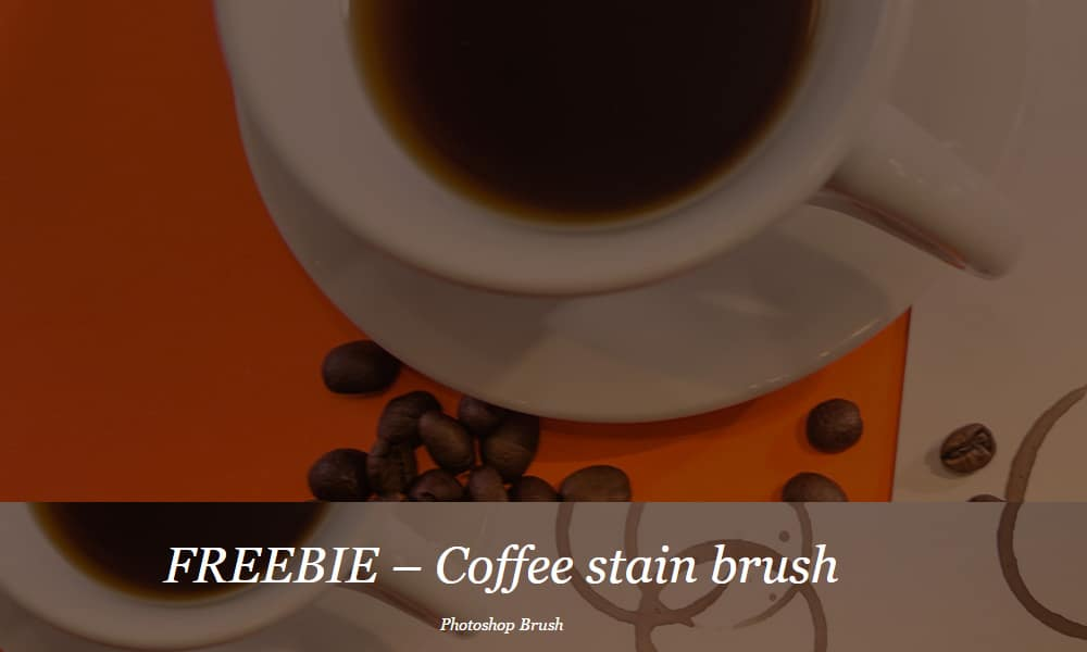 Free Coffee Stain Brush