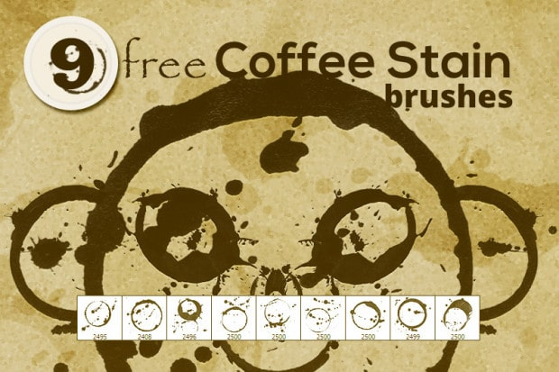 Free Coffee stain brushes