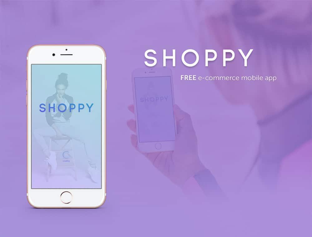 Free E commerce Mobile App UIUX PSD