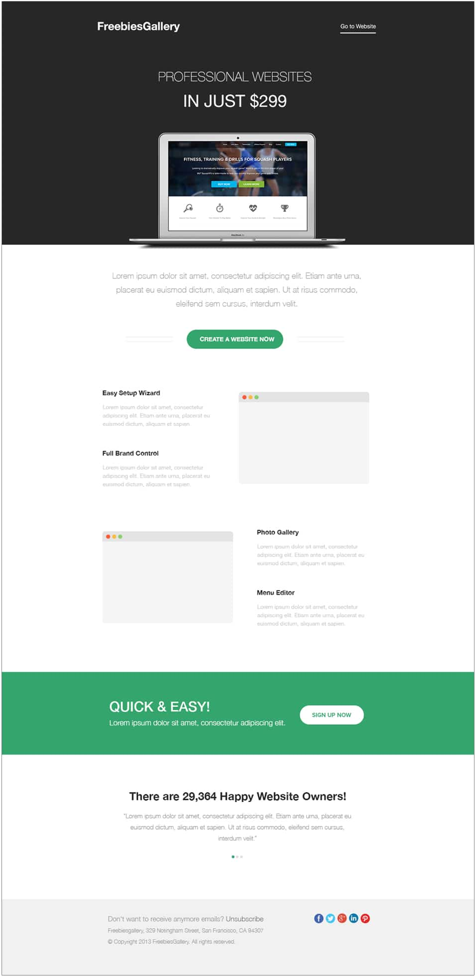 Free email newsletter templates psd css author for Html edm template