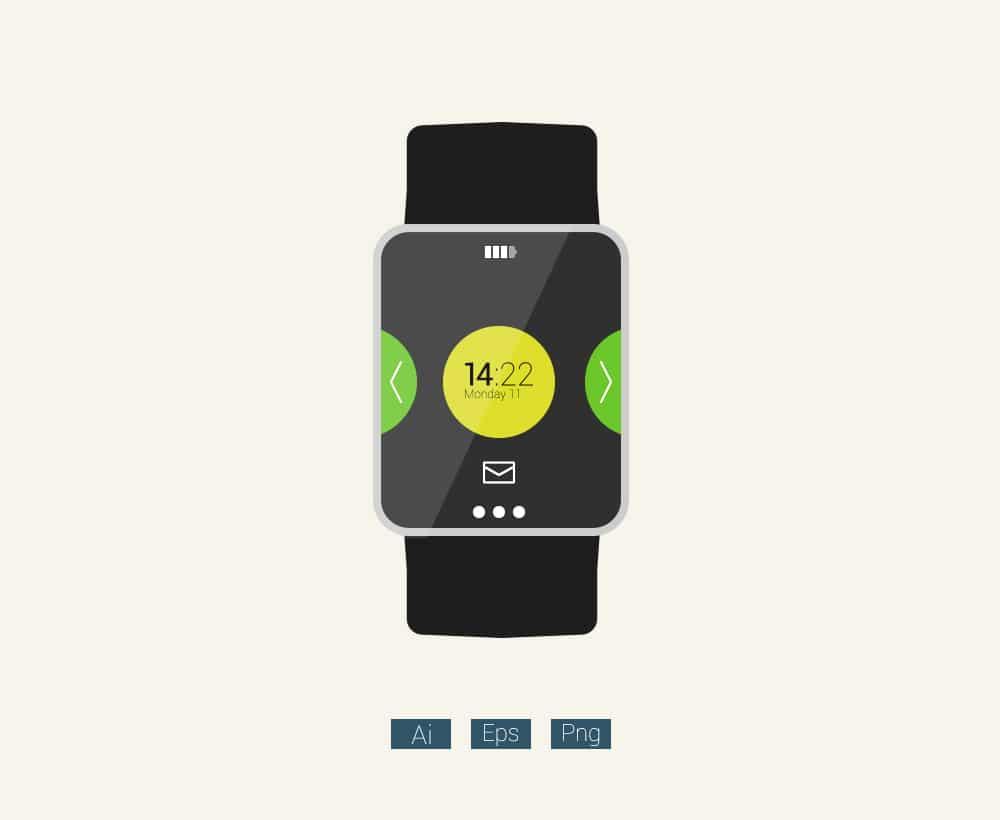Free-Flat-Smartwatch-Mockup