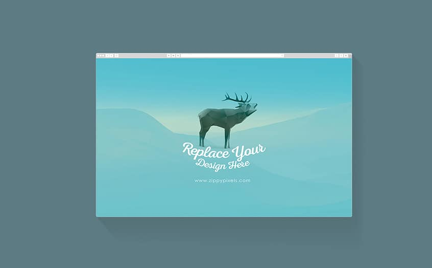 Free Flat Web & Mobile Browser Mockups