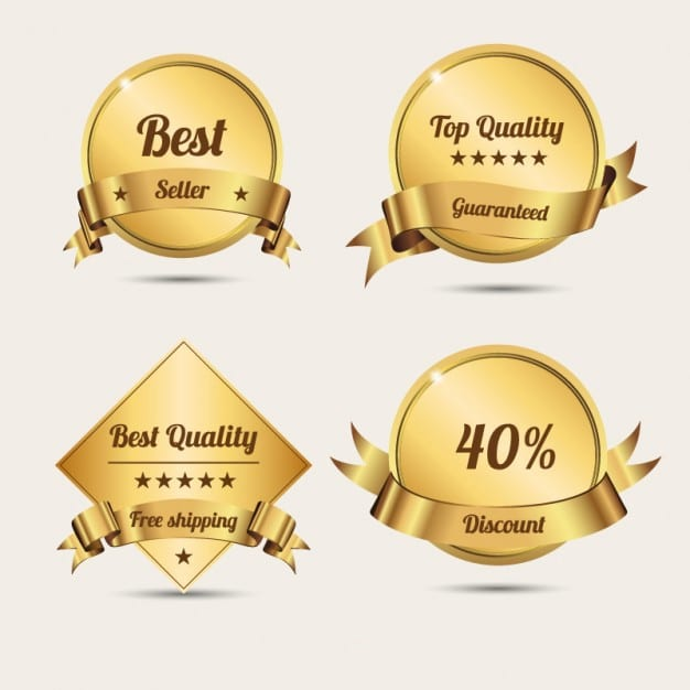 Free Golden Badges Design