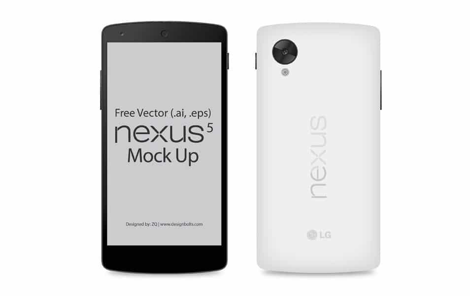 Free Google Nexus 5 Vector Mockup (Ai & EPS)