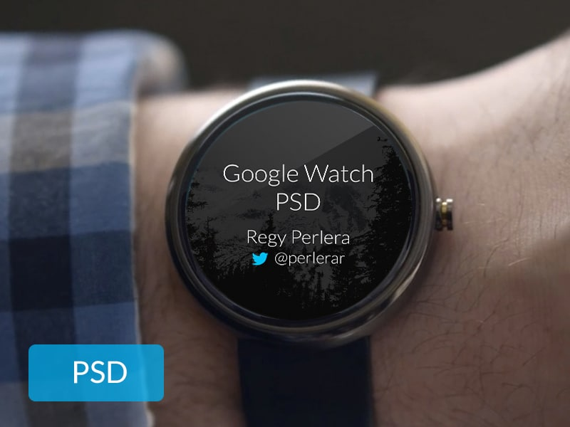 Free Google Watch PSD