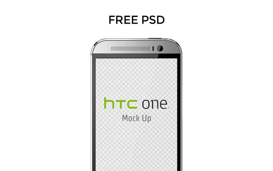 Free HTC ONE M8 Mock Up Template
