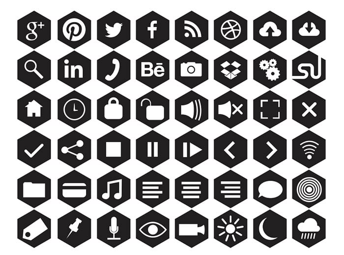 Free Hexagonal Icons