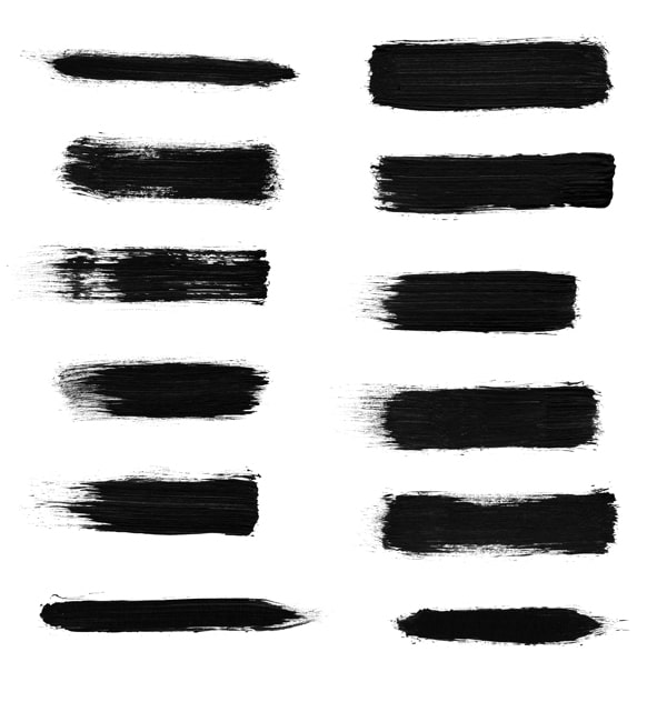 Free High Res Dry Brush Stroke Photoshop Brushes