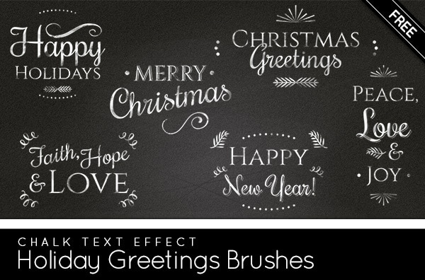 Free Holiday Greetings Brushes