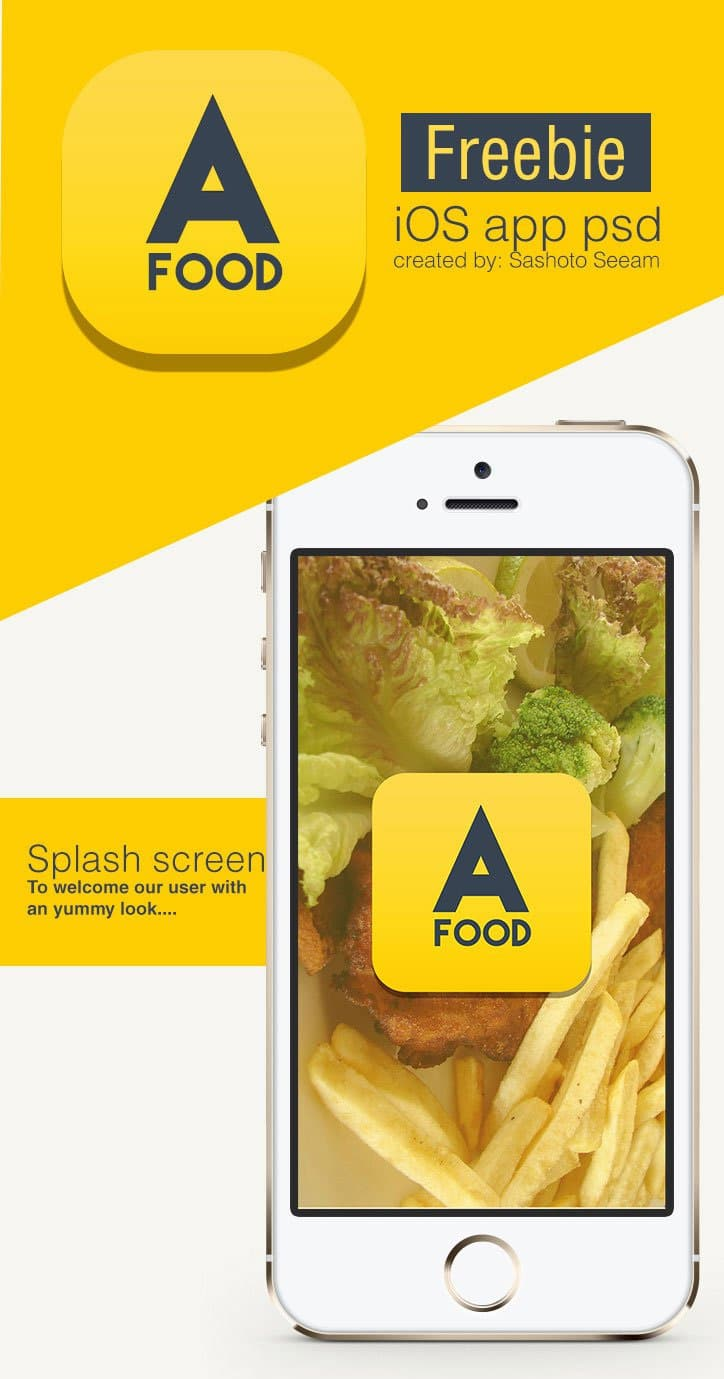 Free IOS Restaurant Finder App PSD