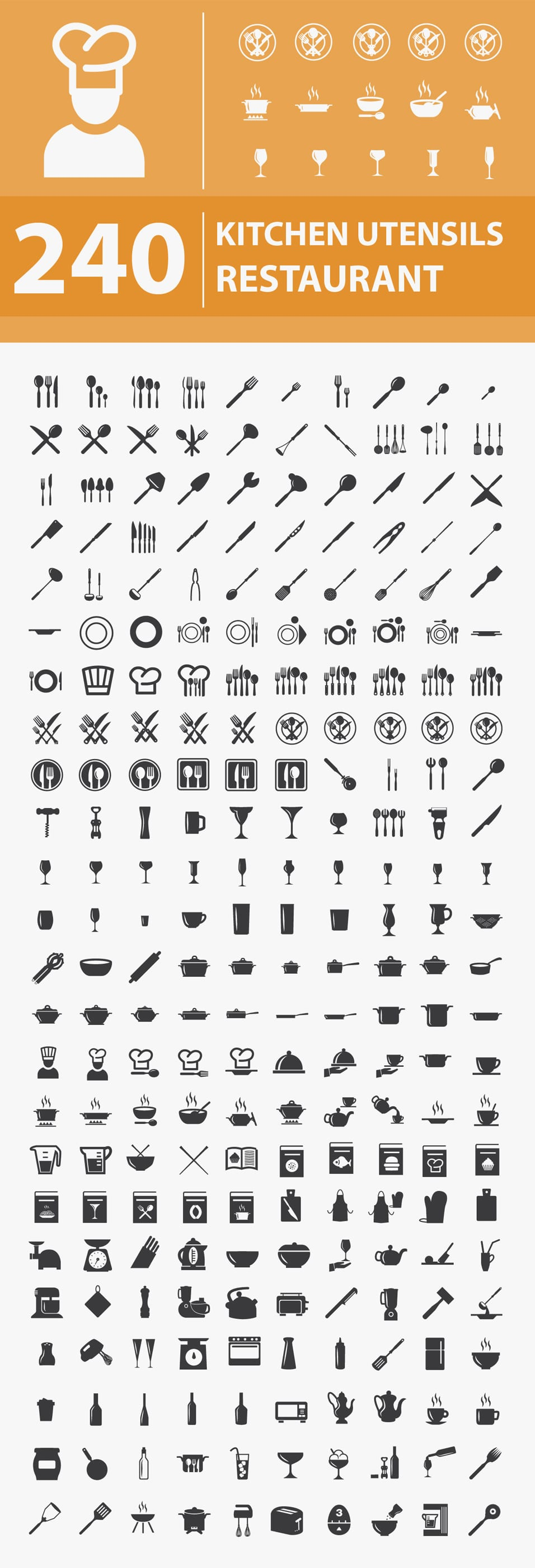 Free Kitchen / Restaurant Icons