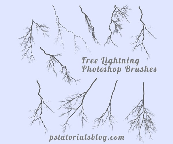 Free Lightning Brushes for Photoshop