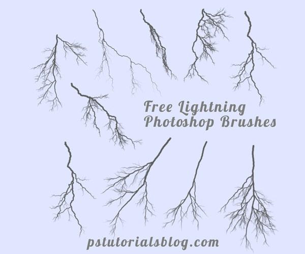 Free Lightning Brushes for Photoshop