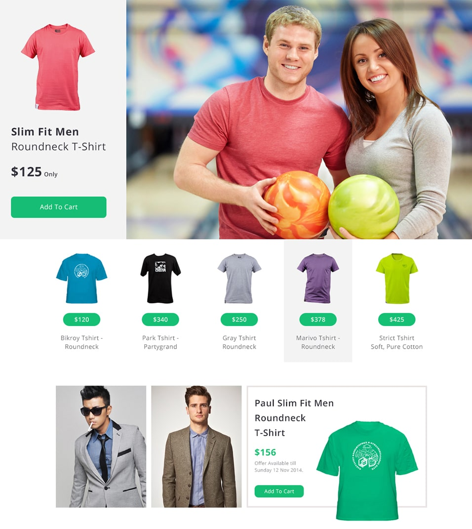Free Minimal ECommerce Web Template PSD